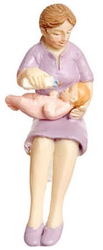 Dollhouse Miniature Mommy And Me, Pink