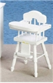 Dollhouse Miniature High Chair, White
