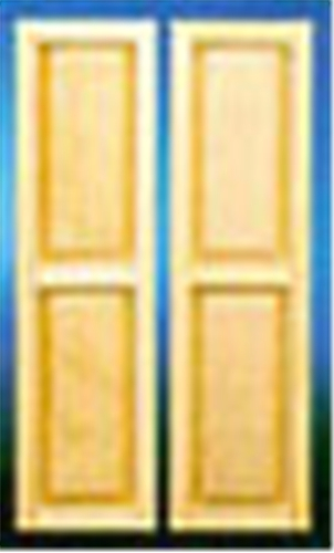 Dollhouse Miniature 2 Panel Shutter, 2/Pk