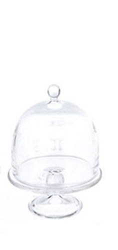 Dollhouse Miniature Cake Stand 2/Domed Cover,15 Mm Di, Small