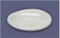 Dollhouse Miniature Porcelain Dinner Plate, 3/4In