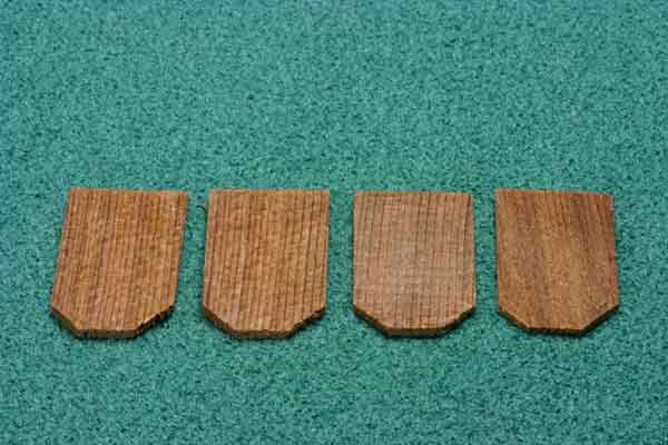 Dollhouse Miniature Economy Cedar Shingles, Hexagon, 1000/Pk