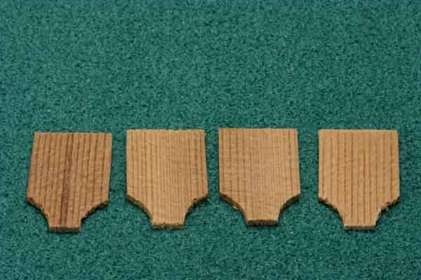 Dollhouse Miniature Cape May Cedar Shingles 250 Pcs