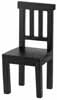 Dollhouse Miniature Benson Chair, Black
