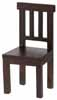 Dollhouse Miniature Benson Chair, Walnut