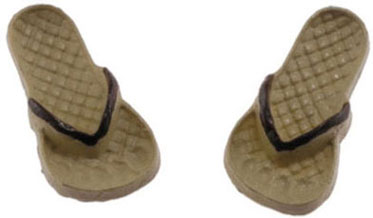 Adult Flip Flops, Tan and Brown