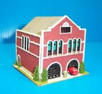 Dollhouse Miniature Old-time Firehouse