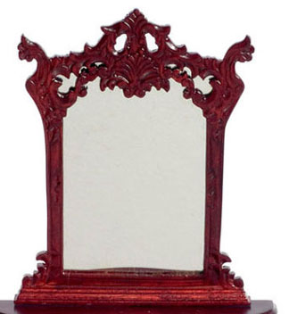 Dollhouse Miniature Hapsburg Carved Mirror, Mahogany