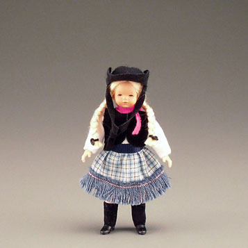 Dollhouse Miniature Cowgirl Kid