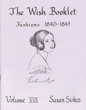 Dollhouse Miniature Wish Booklet #17 Fashions 1840-1845