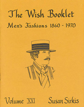 Dollhouse Miniature Wish Booklet #21 Men's Fashions1860-1970