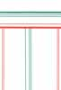 Dollhouse Miniature Wallpaper 1Pc, Red/Green Stripe