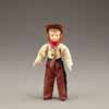 Dollhouse Miniature Cowboy Kid