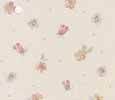 Dollhouse Miniature Pre-pasted Wallpaper Tiny Pink Flowers On Cream