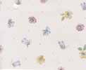 Dollhouse Miniature Pre-pasted Wallpaper, Blue Multi Flowers On White