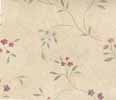 Dollhouse Miniature Pre-pasted Wallpaper Tiny Floral Vines On Tan