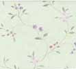 Dollhouse Miniature Pre-pasted Wallpaper Tiny Vines On Lt Green