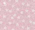 Dollhouse Miniature Pre-pasted Wallpaper, White Flowers On Pink