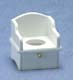 Dollhouse Miniature Potty Chair, White