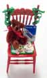 Dollhouse Miniature Christmas Chair