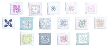 Dollhouse Miniature Pillows/Assorted Colors/ 1 pc.