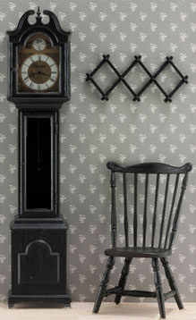 Dollhouse Miniature F-100 Grandfather Clock Kit, Black