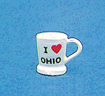 Dollhouse Miniature Mug-I Love Ohio