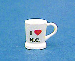 Dollhouse Miniature Mug-I Love Kc