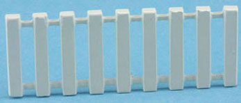 Dollhouse Miniature White Border Fence 5/8In H X 1 5/8In L