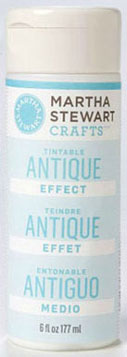 Dollhouse Miniature Martha Stewart Tin table Antique Effect, 6oz.