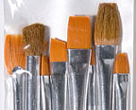 Dollhouse Miniature Plaid Texture Brush Set, 8pc