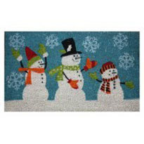 Dollhouse Miniature Mat, Snowman
