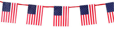 Dollhouse Miniature AMERICAN FLAG GARLAND