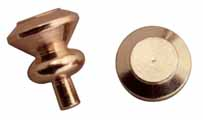 Round Knobs, Brass, 6 Pk