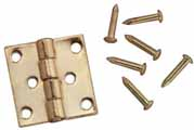 Butt Hinges with Nails, 4  Pk