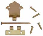 Offset Hinges with Nails, 6 Pk
