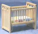 Dollhouse Miniature Crib, Oak