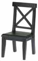 Dollhouse Miniature Cross Buck Chair, Black