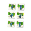 Dollhouse Miniature Reutter's Porcelain Fine Dollhouse Miniature Grapevine Tiles (6pc)