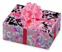 Dollhouse Miniature Pink/Purple Foil Gift with Bow