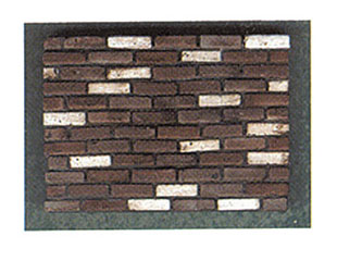 Dollhouse Miniature Brown Blend Brick, 325Pcs