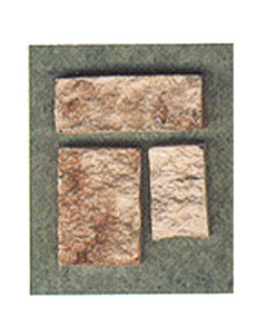 Dollhouse Miniature Cut Stone Veneer Brown 72Sq
