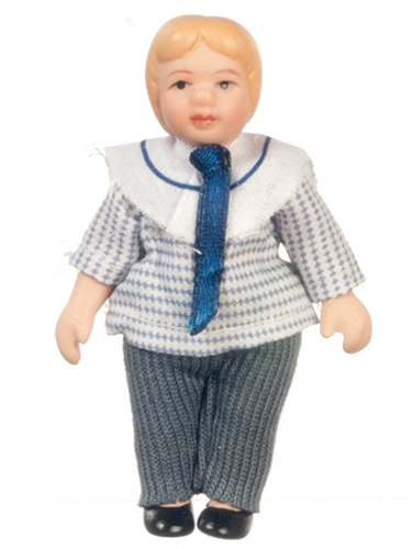 Dollhouse Miniature Porcelain Brother Doll