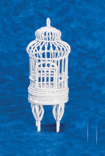 Dollhouse Miniature Small Birdcage with Stand