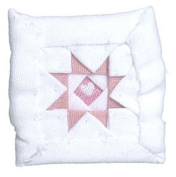Dollhouse Miniature Infant Quilt/Pink