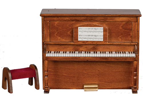 Dollhouse Miniature Upright Piano