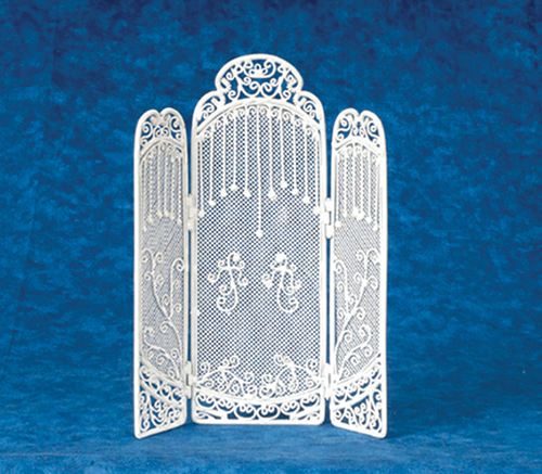 Dollhouse Miniature3-Sided Floor Screen