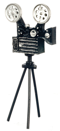 Dollhouse Miniature Antique Movie Camera