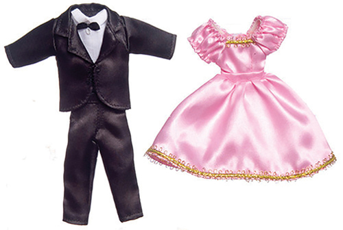 Dollhouse Miniature Formal Wear Set, 2Pc