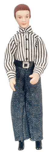 Dollhouse Miniature Modern Porcelain Man